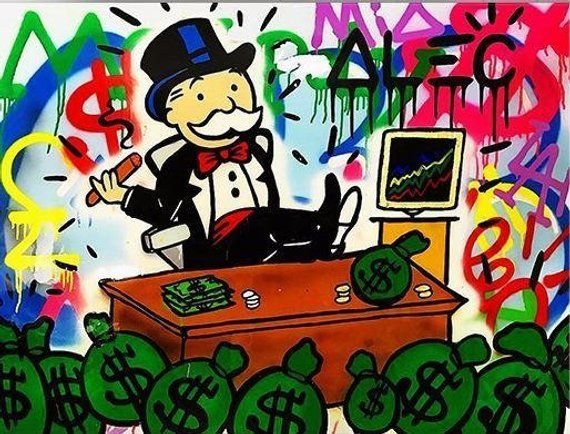 Rich Kids : Alec Monopoly Oil Painting on Canvas Urban art wall ...